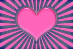 Pink Valentine Heart Royalty Free Stock Images