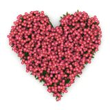 Pink valentine heart with flowers. Digital render of a pink valentine heart with flowers Royalty Free Stock Images