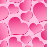 Pink valentine hearths from paper seamless pattern Stock Photo