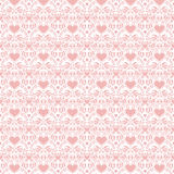 Pink valentine hearts folk art seamless background vector illustration