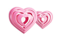 Pink valentine hearts Stock Photos