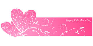 Pink valentine\'s banner Stock Photo