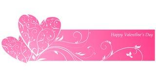 Pink valentine\'s banner Stock Photo
