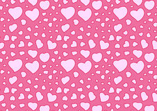 Pink Valentine's Day Background with Hearts Royalty Free Stock Photo