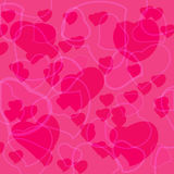 Pink Valentine's day background with hearts Royalty Free Stock Image