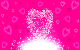 Pink Valentine's Day cards Royalty Free Stock Image