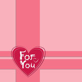 Pink Valentine's Day Gift Card Holiday Heart Shape Stock Photography