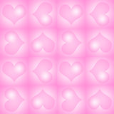 Pink Valentine's Day heart background Royalty Free Stock Photos