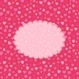 Pink Valentine Vintage Card Stock Image