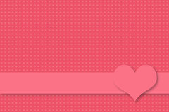 Pink valentine and wedding invitation background with seamless heart texture Royalty Free Stock Photo