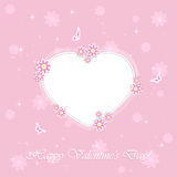 Pink Valentines background with heart Royalty Free Stock Image