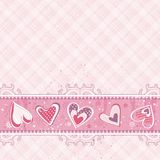 Pink valentines  background, vector Royalty Free Stock Photos