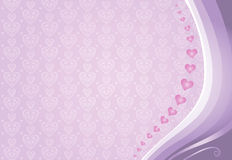 Pink valentines card background Royalty Free Stock Photos