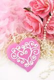 Pink Valentines Cookie Royalty Free Stock Photography