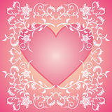 Pink Valentines day background with flowers Stock Images