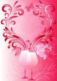 Pink valentines frame Royalty Free Stock Image