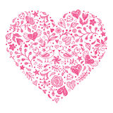 Pink Valentines heart Stock Photo