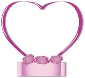 Pink valentines heart frame Royalty Free Stock Photos