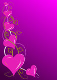 Pink Valentines Hearts Royalty Free Stock Photo