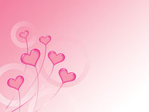 Pink Valentines Hearts Background Stock Images