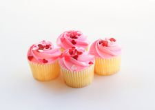 Pink vanilla muffins Stock Image