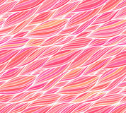 Pink vector doodle hair seamless pattern Royalty Free Stock Photography