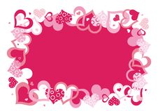 Pink Vector Frame Stock Photography