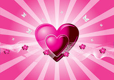 Pink vector hearts Royalty Free Stock Image