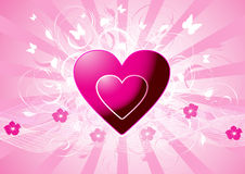 Pink vector hearts Stock Photo