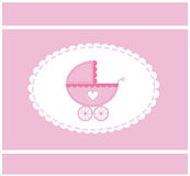 Pink vector illustration of a baby Stock Image