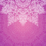 Pink vector ornate vintage wedding card background Royalty Free Stock Photos