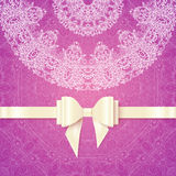 Pink vector romantic vintage wedding invitation Royalty Free Stock Photo