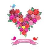 Pink vector rose heart Royalty Free Stock Photos