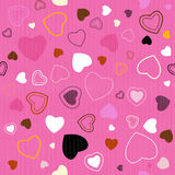 Pink Vector Seamless Hearts Pattern Stock Image
