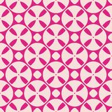 Pink vector seamless pattern. Abstract geometric texture with circles, crosses vector illustration
