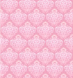Pink vector seamless pattern with baroque elements Stock Photo