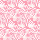 Pink vector seamless pattern texture with zebra stripes Stock Images