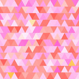 Pink vector seamless pattern with triangles. Abstract background Royalty Free Stock Image