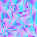 Light Pink, Blue vector shining triangular backdrop. A completely new color illustration in a polygonal style. A completely new te royalty free illustration