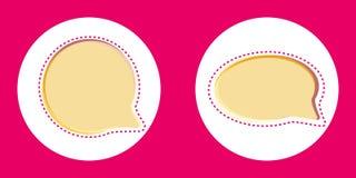 Pink vector speech bubbles royalty free illustration