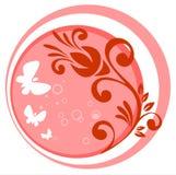 Pink vegetative pattern stock photography