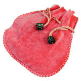 Pink velour fashionable bag or sack Stock Image