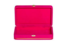 Pink Velvet Box Isolated Royalty Free Stock Images