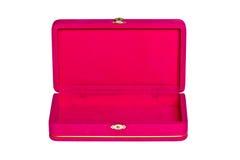 Pink velvet box isolated. On white background Royalty Free Stock Images