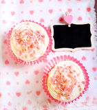 Pink velvet cakes Stock Photography