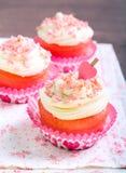 Pink velvet cakes Royalty Free Stock Photo