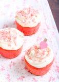 Pink velvet cakes Stock Image