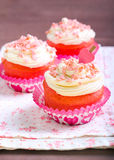 Pink velvet cakes Stock Photos
