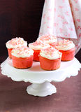 Pink velvet cakes Royalty Free Stock Photography