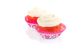 Pink velvet cakes Royalty Free Stock Images